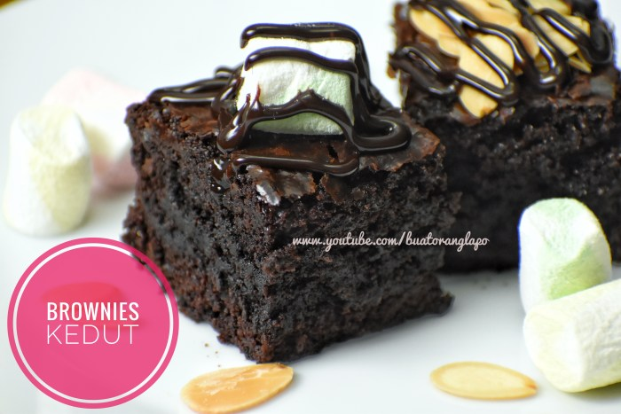 brownies kedut mudah