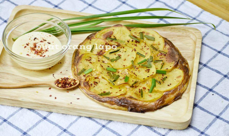Pizza Kentang Mudah Menggunakan Roti Paratha