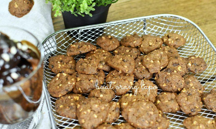 Triple Chocolate Chip Cookies Super Sedap Serta Tips Untuk Dapatkan Biskut Yang Rangup