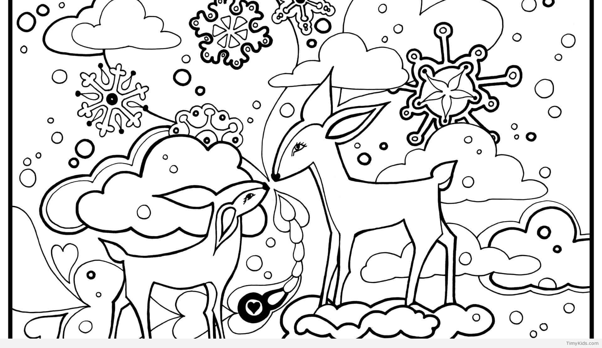 Winter Animal Coloring Pages