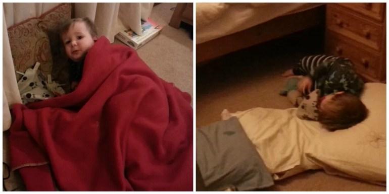 Floor sleeping