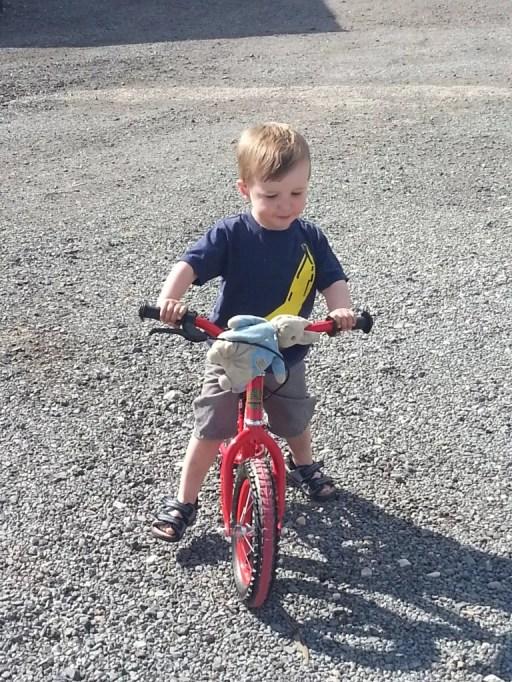 balance bike riding