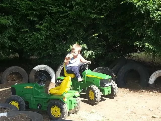 on the ride on tractors