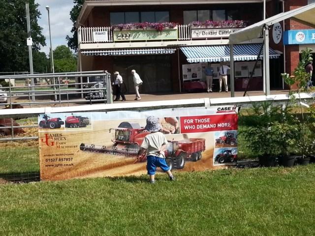 combine harvester banner