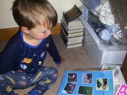 reading his learning journals