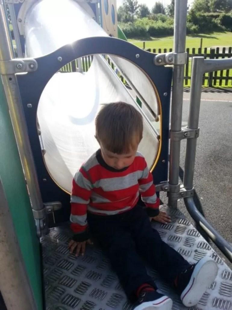 sitting down the slide1