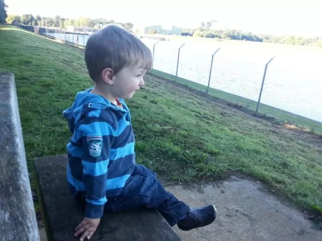 Watching the anglers and ducks