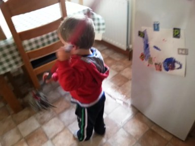 toddler cleaning