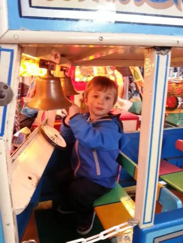 riding the vintage merrygoround