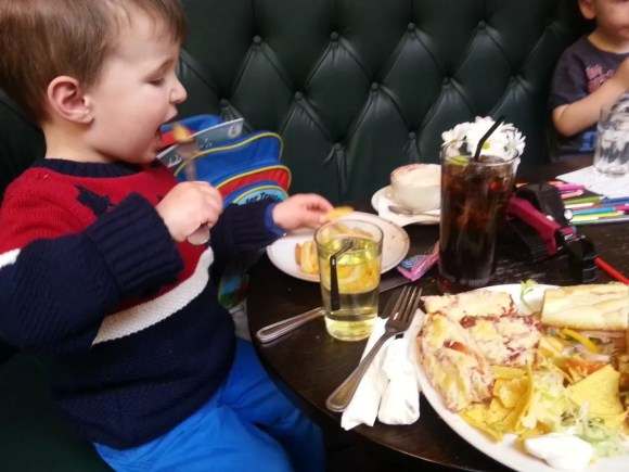 toddler at lunchtime
