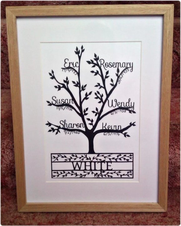 family tree papercuts