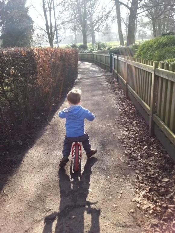 bike riding int he park