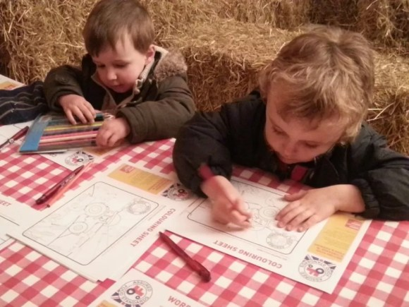 colouring in red tractor