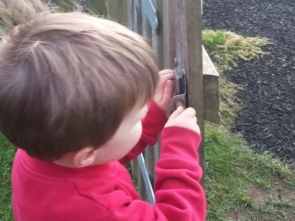 playing with the gate latch