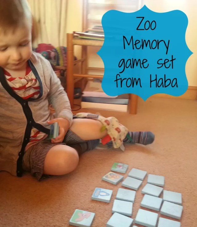 Haba memo in the zoo - matching pairs game