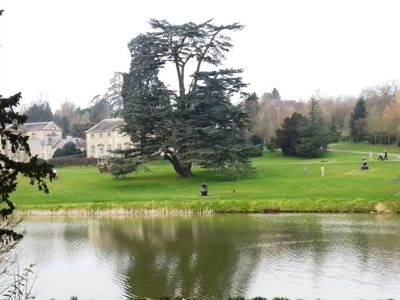 view across the lake to Compton Verney