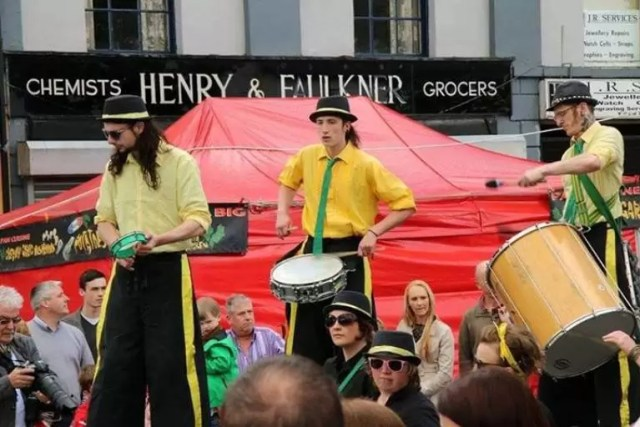 Drummers at festival