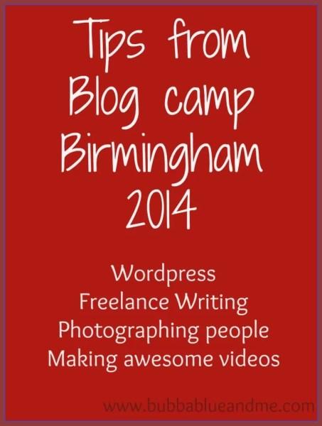 blog camp tips