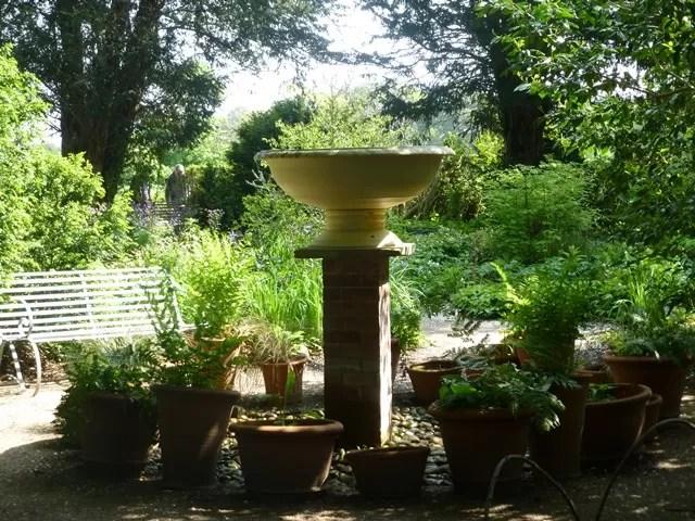 garden ornaments at Charlecote