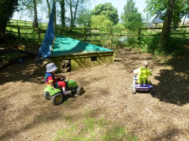 ride ons in forest school