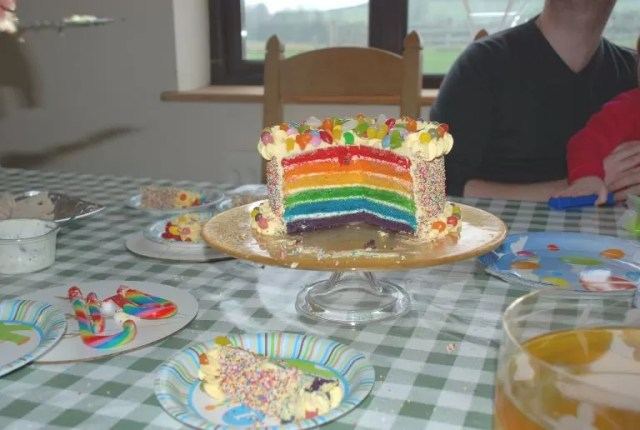 first birthday party cake in kitchen memories