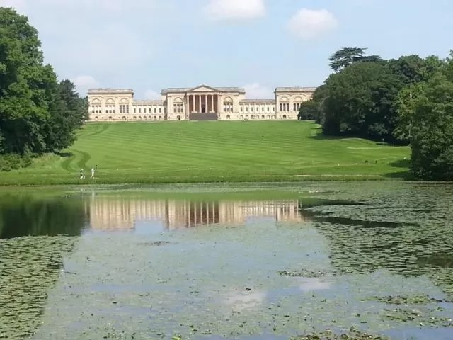 stowe house view over lake