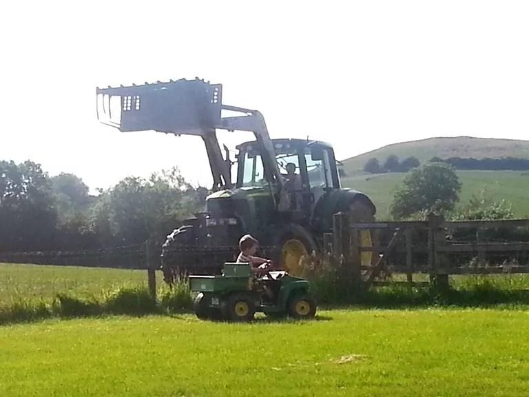john deere tractor and gator