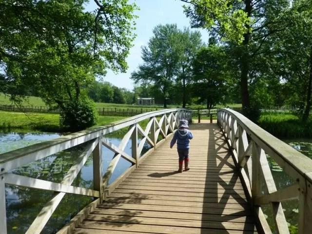wooden bridge at stowe