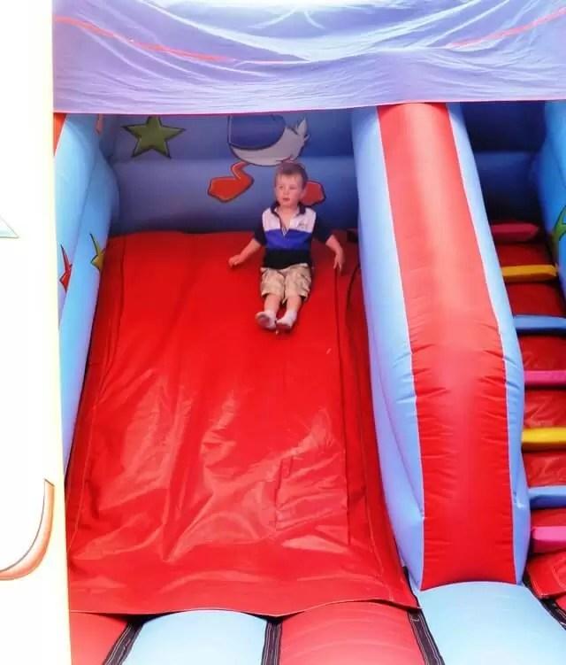 bouncy slide.