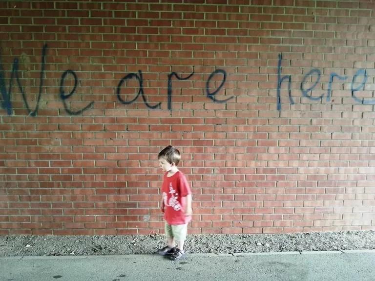 graffiti kid wall