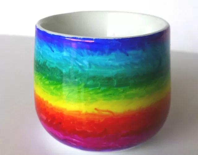 sharpie rainbow egg cup