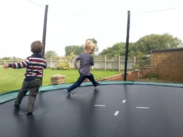 trampolining with cousins