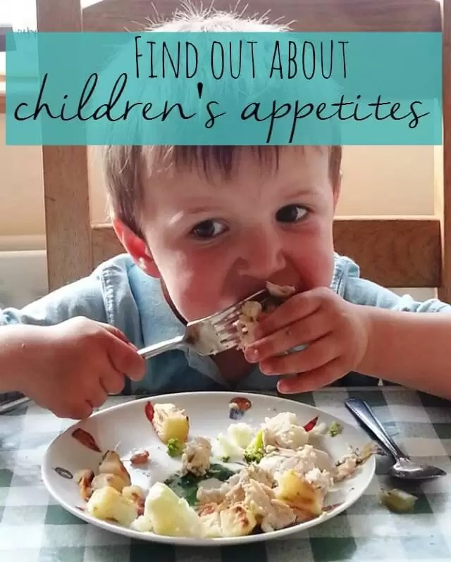 find out about children's appetites - Bubbablue and me