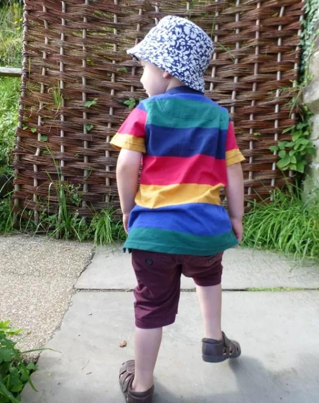 joules rainbox boys polo shirt