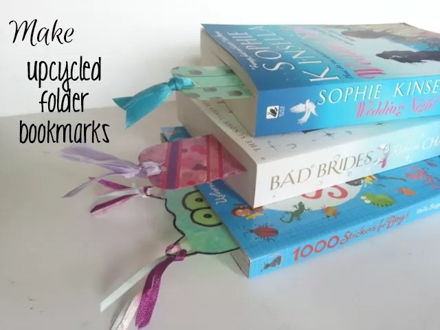 upcycled folder bookmarks