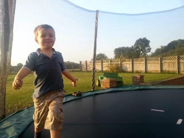 trampolining preschooler