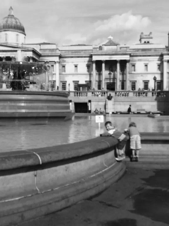 Trafalgar square and boys