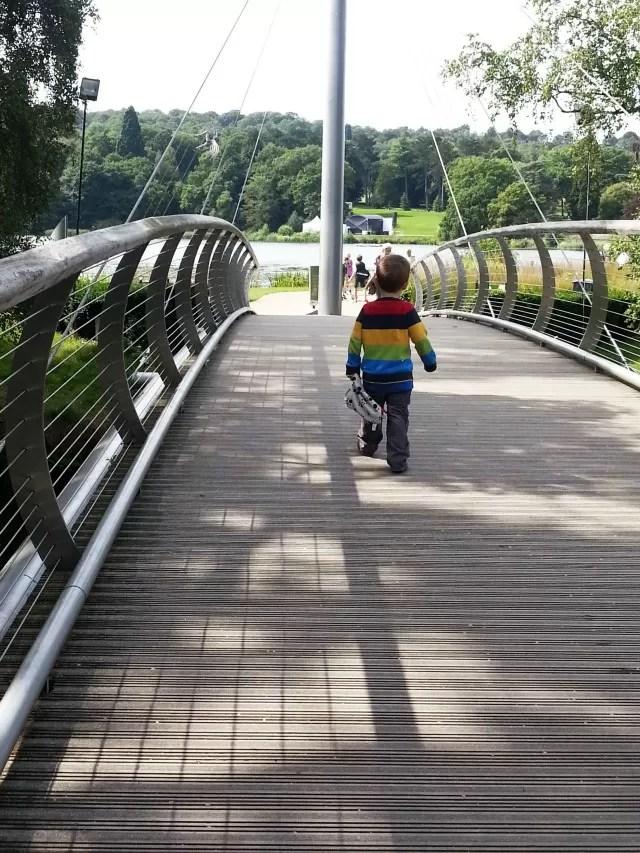 entering trentham gardens