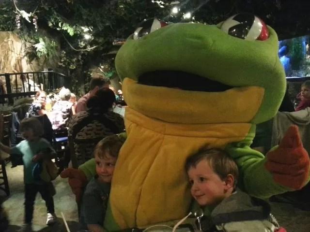 za za the frog at rainforest cafe