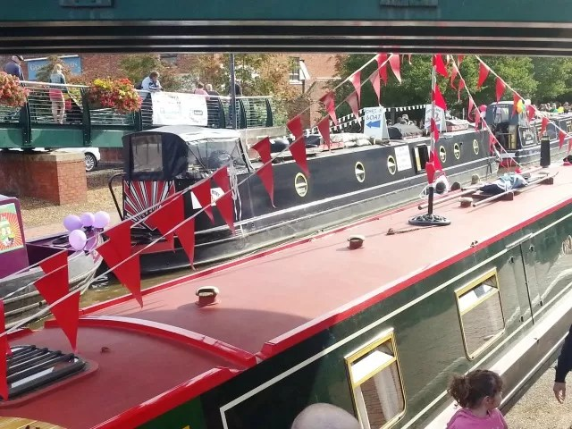 bunting on barges