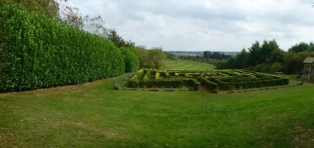 view from the herb centre