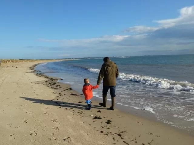 walk along the beach at studland bay c