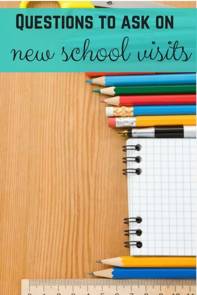 Questions to ask on potential new school visits - Bubbablue and me