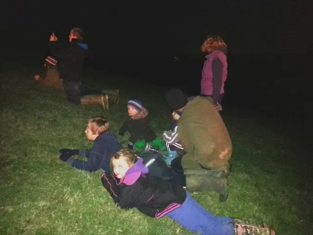 watching the fireworks on yarn hill