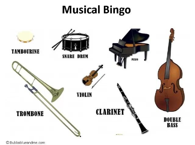 Musical Bingo for children - Bubbablue and me