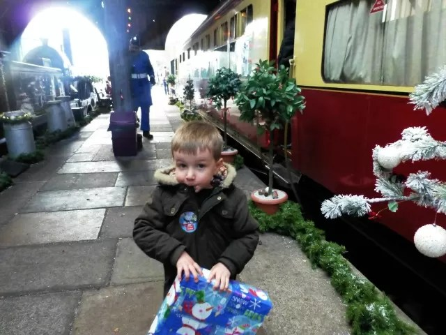 christmas railway carriages