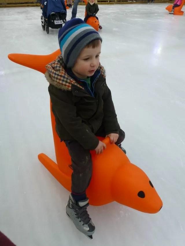 seal ice skating aid millets farm