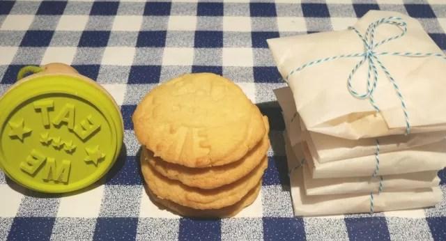 birthday stamped cookies