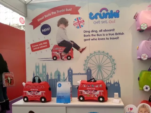 London bus trunki at Toy Fair 2015