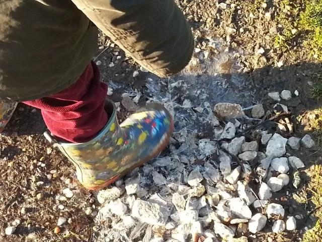 breaking icy puddles - Bubbablueandme